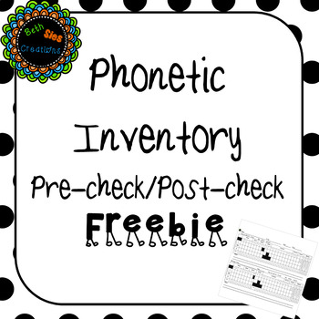 Phonetic Inventory Pre-check/post-check Freebie