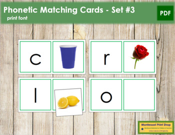 Phonetic Matching Cards - Set 3