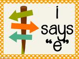Phonetic Pattern: i says e words