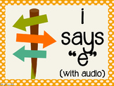 """Phonetic Pattern: i says """"e"""" words (with audio)"""