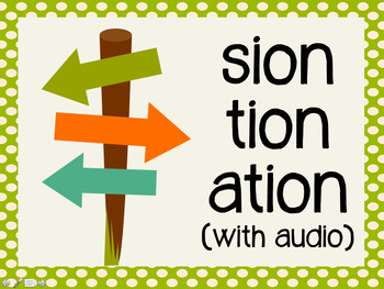 Phonetic Pattern: sion, tion, ation words (with audio)