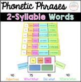 Phonics Fluency Phrases: 2 Syllable Words