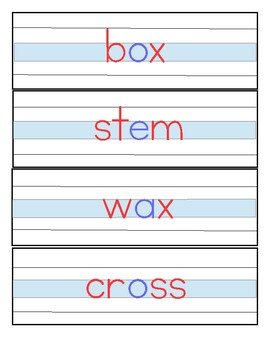 Montessori Phonetic Reading - Writing Cards