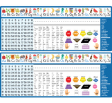 Phonetic School Desk Top Nameplates Name Tags - Digital Do