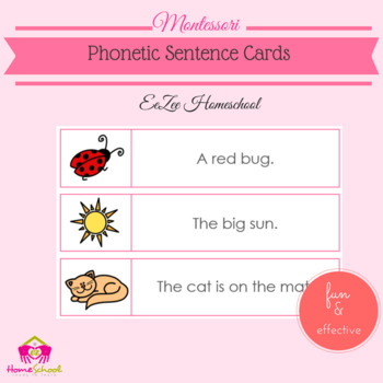 Phonetic Sentence Cards