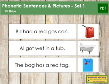Phonetic Sentences and Pictures - Set 1