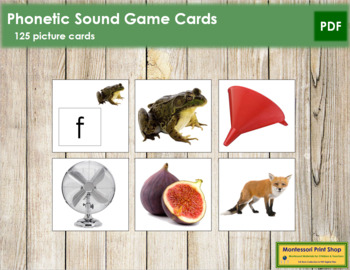 Phonetic Sound Game Cards