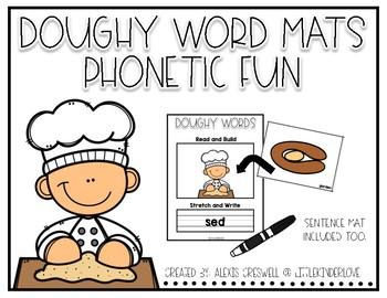 Phonetic Spelling Dough Mats