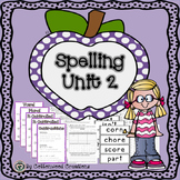 2nd Grade Spelling Unit 2