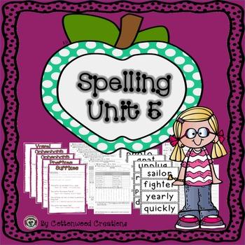 2nd Grade Spelling Unit 5