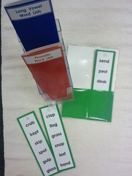 Phonetic Word List Cards ~ 3 sets of 10 cards