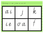 Phonic Bingo ai j ie ee or Group 4 Jolly Phonics