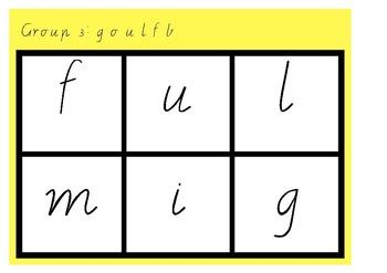 Phonic Bingo goulfb Group 3 Jolly Phonics