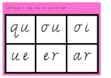 Phonic Bingo qu ou oi ue er ar Group 7 Jolly Phonics