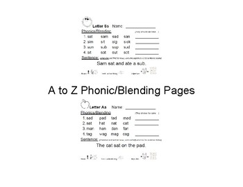 Phonic & Blending Pages