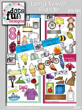 Phonic Clipart: Long Vowel Bundle