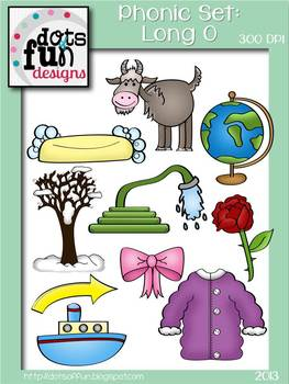 Phonic Clipart: Long o