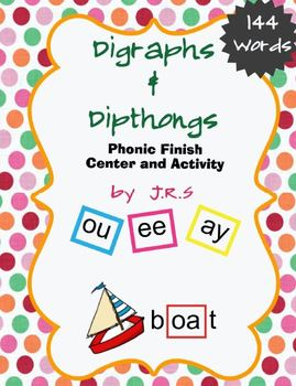 Digraphs and Dipthongs - Center and Activity