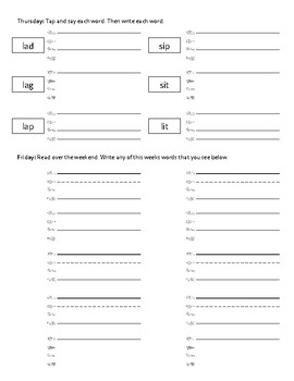 Phonic Foundations - Weekly Tapping Homework Packet