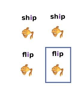 Phonic Game- Go Fish  Short i (harder)