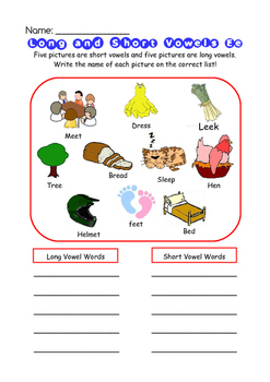 Phonic - Long and Short Vowels