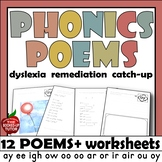 Phonics Poems BOOK 1 long vowel teams blend sound K-1 EASY READ POETRY
