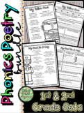 Phonics Poetry and Response Sheets BUNDLE (1st and 2nd Gra