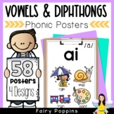 Phonic Posters (Vowels, Vowel Teams, Dipthongs & R Influenced Vowels)