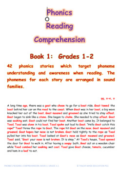 Phonics Reading Comprehension Book1 Grades 1-2