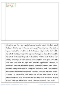 Phonics Reading Comprehension Book1 Grades 1-2