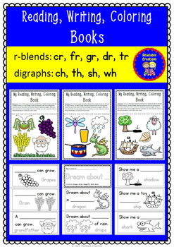 Phonic Reading, Writing, and Coloring Books