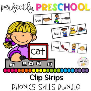 Phonics Skills Clip Strip Bundle