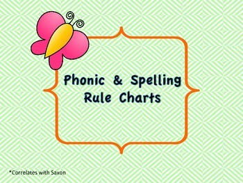 Phonic & Spelling Charts