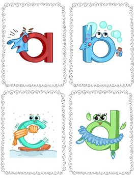 Phonic letter sound flashcards, memory cards and posters