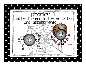 Phonics 1- Spider Themed Letter Activities and Assessments