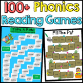 Phonics: 101 Phonics Reading Board Games (CVC, Blends, Digraphs, Long Vowels...)