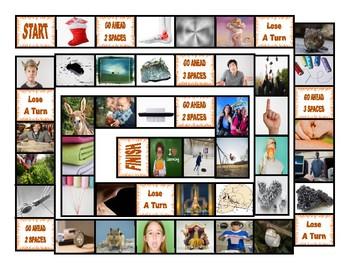 Phonics 2-3 Letter Digraphs ng-nk-chr-phr-shr-thr Photo Board Game