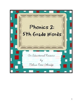 Phonics 2: 5th grade words