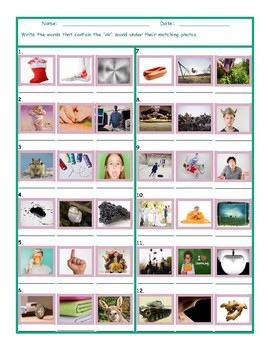 Phonics 2 Letter Digraph NK Photo Worksheet