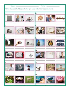 Phonics 2 Letter Digraph PH Photo Worksheet