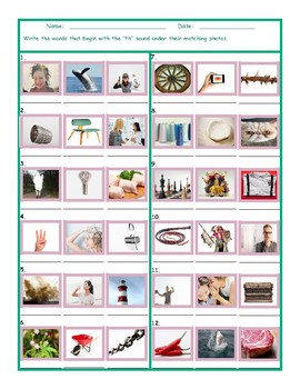 Phonics 2 Letter Digraph TH Photo Worksheet