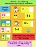 Phonics 2 Song Digital Matching Slides in PowerPoint