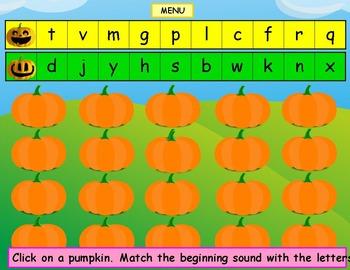 Phonics Pumpkins Kindergarten First Grade
