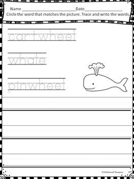 "Phonics Digraphs ""WH Sound"" (Digraphs Worksheets)"