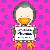 Phonics - Letter Sounds, Rhyming, CVC Words, Digraphs & More! (Kindergarten)