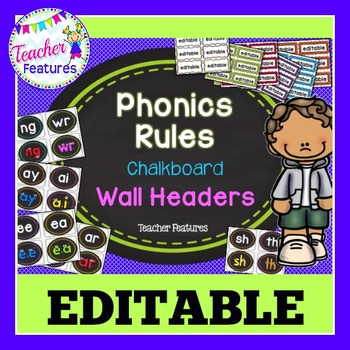 Word Wall Letters- Phonics Rules