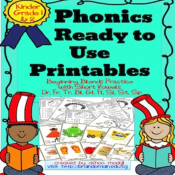 Phonics Beginning Blends CCVC and CCVCC  Printables
