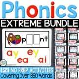 Digital Word Work Bundle- 121 Phonics Centers for Google C