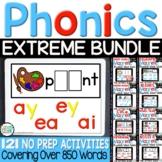 Digital Word Work Bundle: 121 1st Grade Phonics Activities