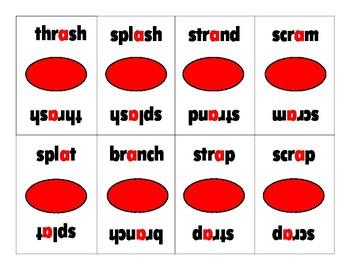 Flash Phonics 3-Letter Blends/Digraph Blends OG Game Barton Reading and Spelling